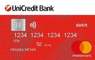 UniCredit MasterCard Unembossed bankkártya (nem dombornyomott)