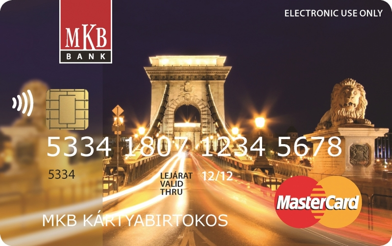 MKB MasterCard Unembossed PayPass (nem dombornyomott)