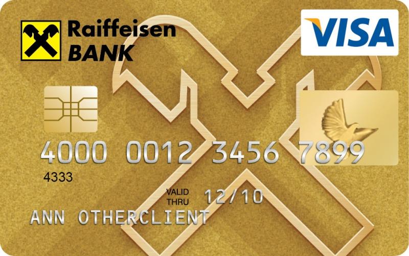 Raiffeisen VISA Gold (dombornyomott)
