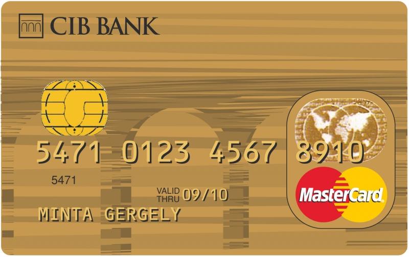 CIB MasterCard Gold (dombornyomott)