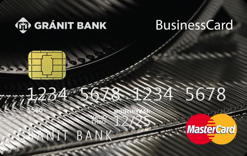 Gránit MasterCard Business üzleti bankkártya (dombornyomott)