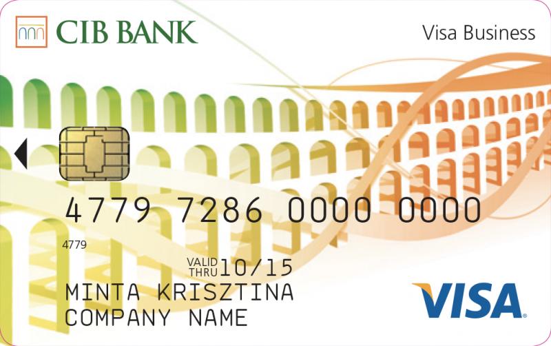 CIB Visa Kompakt Üzleti Bankkártya (nem dombornyomott)