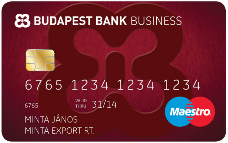 Budapest Kisvállalkozói Business Mastercard Kártya -