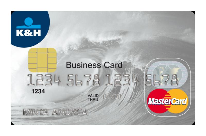 K&H Bank MasterCard üzleti érintőkártya (dombornyomott)