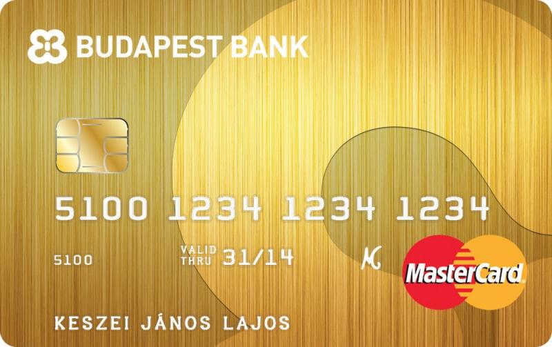 Budapest Bank Arany kártya (dombornyomott)