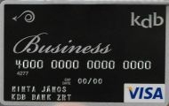 KDB Bank VISA CHIP Business Kártya (dombornyomott)