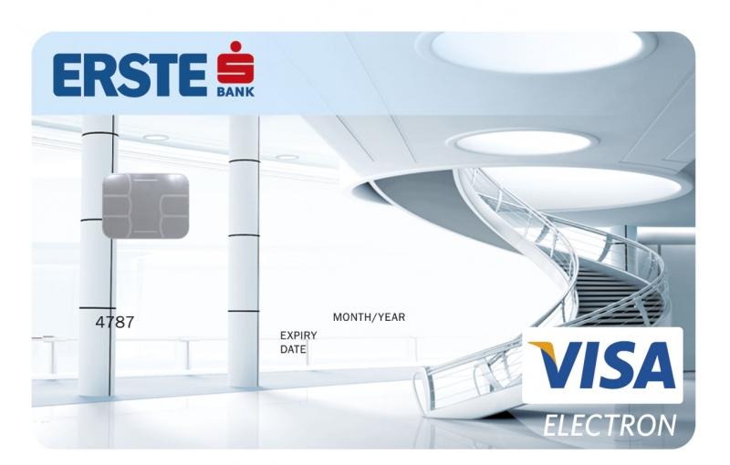 Erste Vállalati VISA Electron bankkártya (nem dombornyomott)