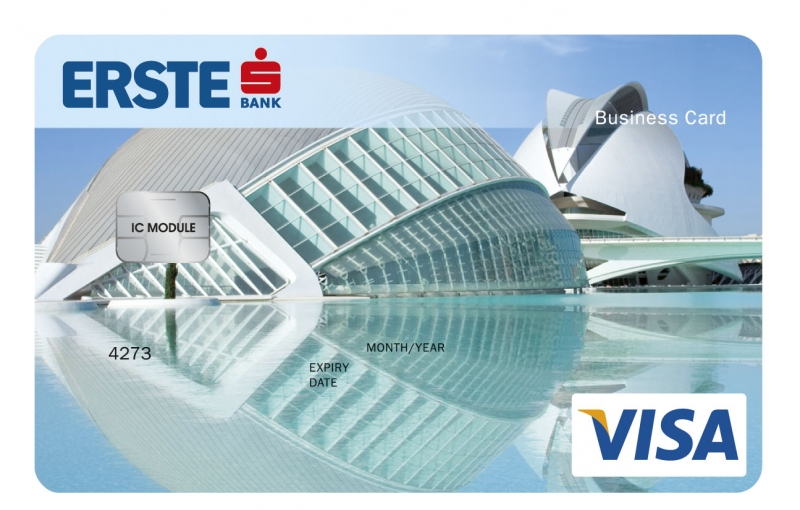 Erste VISA Business bankkártya (dombornyomott)