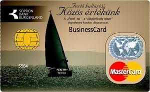 Sopron Bank MasterCard Business PayPass bankkártya