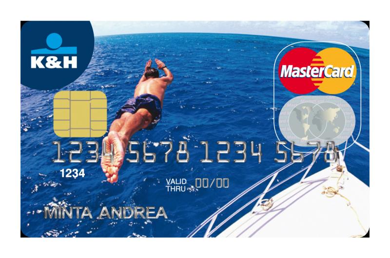 K&H Bank MasterCard betéti érintőkártya (dombornyomott)
