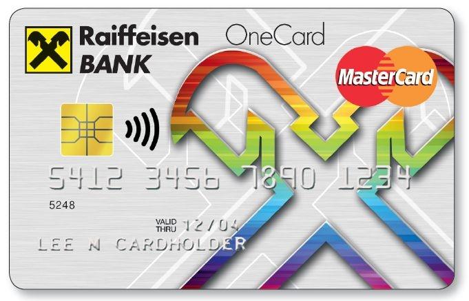 Raiffeisen VertiCard (mastercard nem dombornyomott)