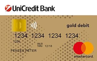 UniCredit MasterCard Arany bankkártya (dombornyomott)