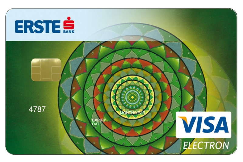 Erste Bank VISA Electron (nem dombornyomott)