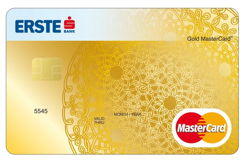 Erste Bank MasterCard Gold (dombornyomott)