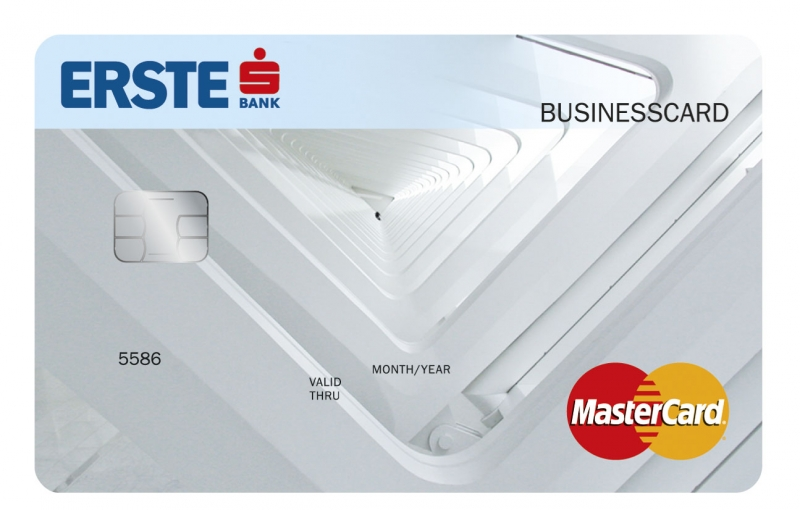 Erste MasterCard Business bankkártya (dombornyomott)