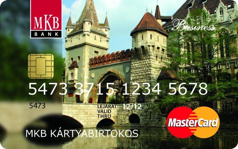 MKB MasterCard Business Unembossed (nem dombornyomott)