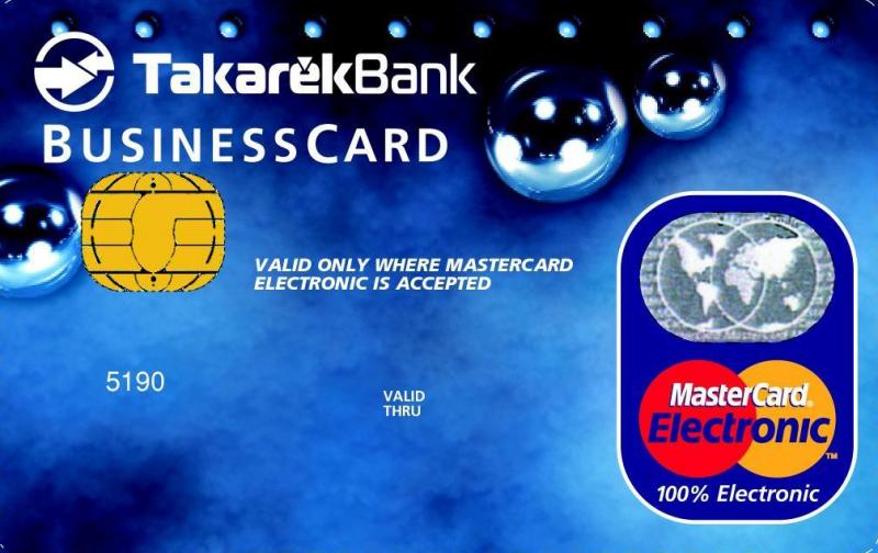 Pannon TakarékBank MasterCard Electronic Business (nem dombornyomott)