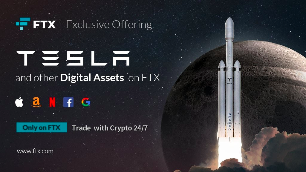 FTX Crypto Exchange has already launched tokenized stocks trading, such as Tesla, Amazon, Netflix, Facebook, and Google.