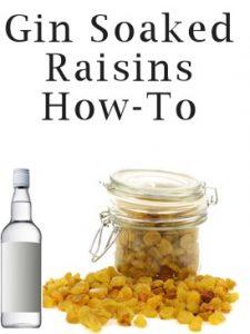 golden raisins soaked