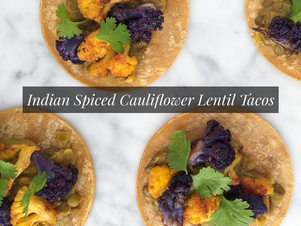 Indian Spiced Cauliflower Tacos