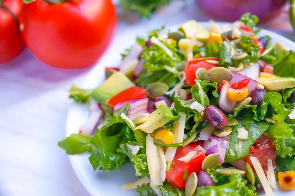 Mexican Kale Salad (Gluten Free, Vegan, Sugar Free, Paleo)
