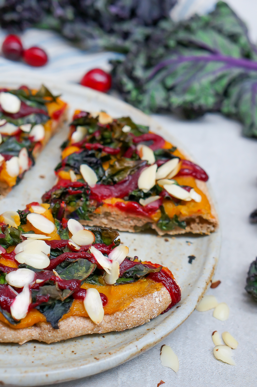 Butternut Squash Kale and Cranberry Pizza-4