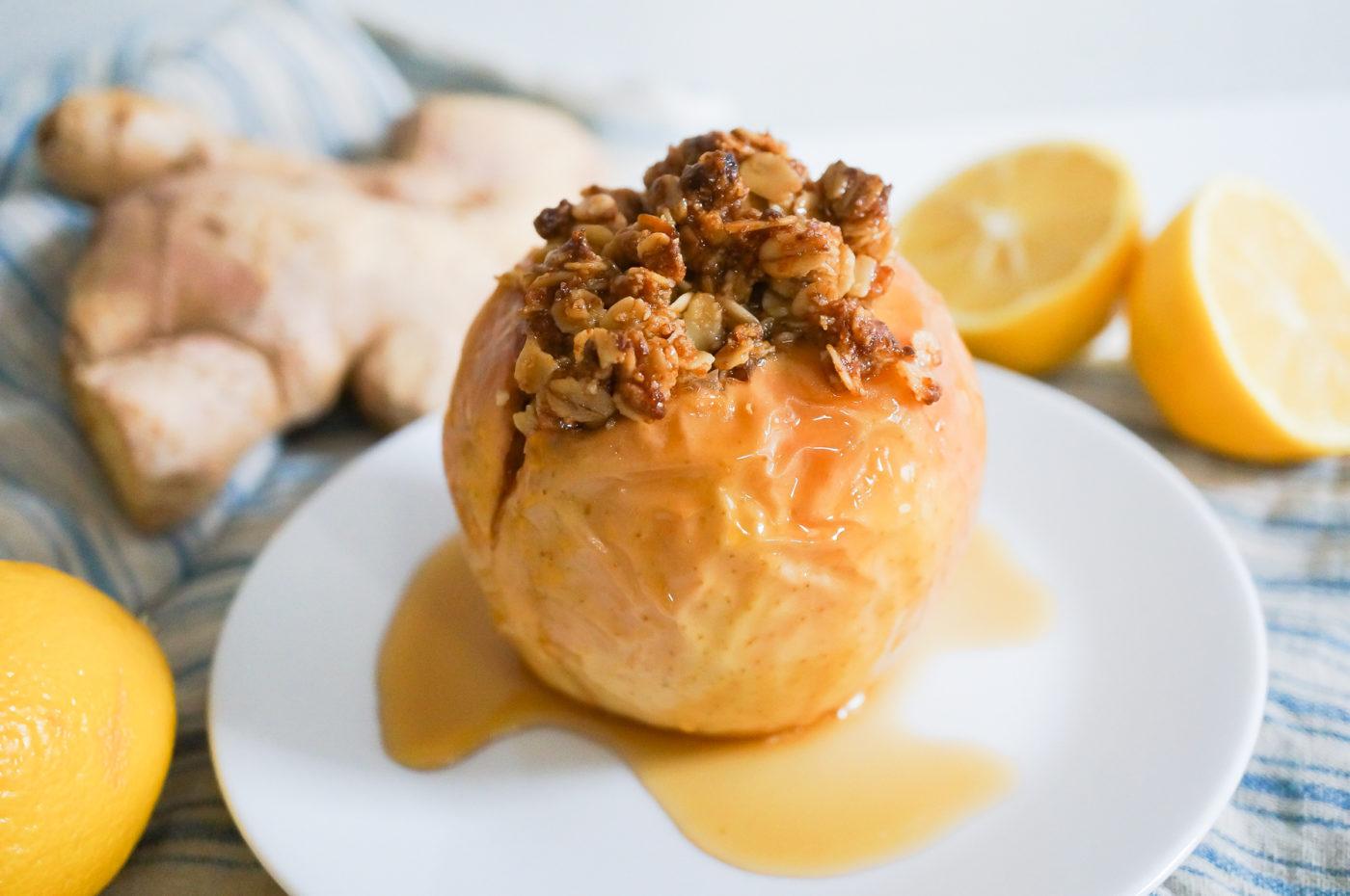 Lemon Ginger Baked Apples-10
