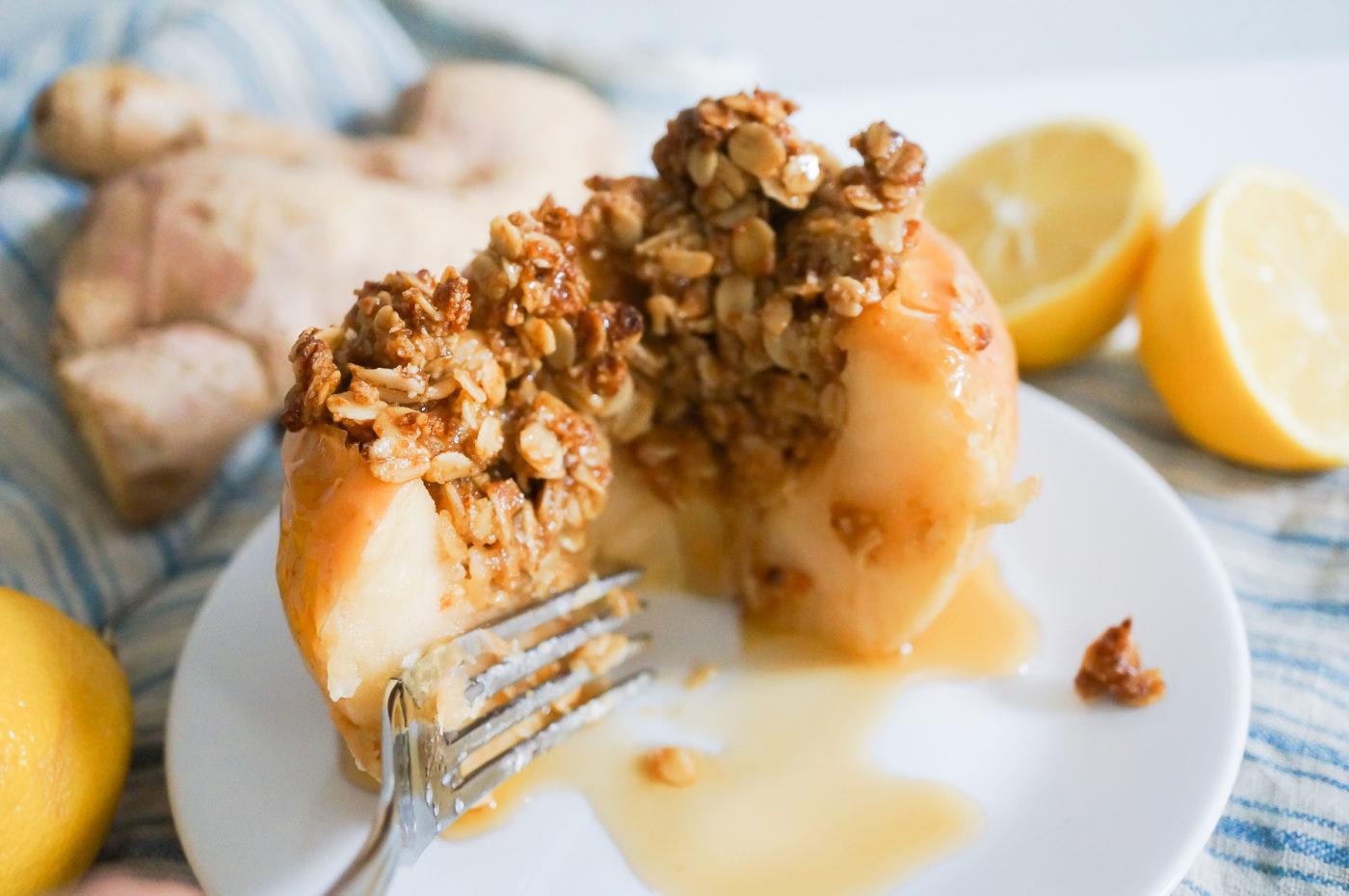 Lemon Ginger Baked Apples-12