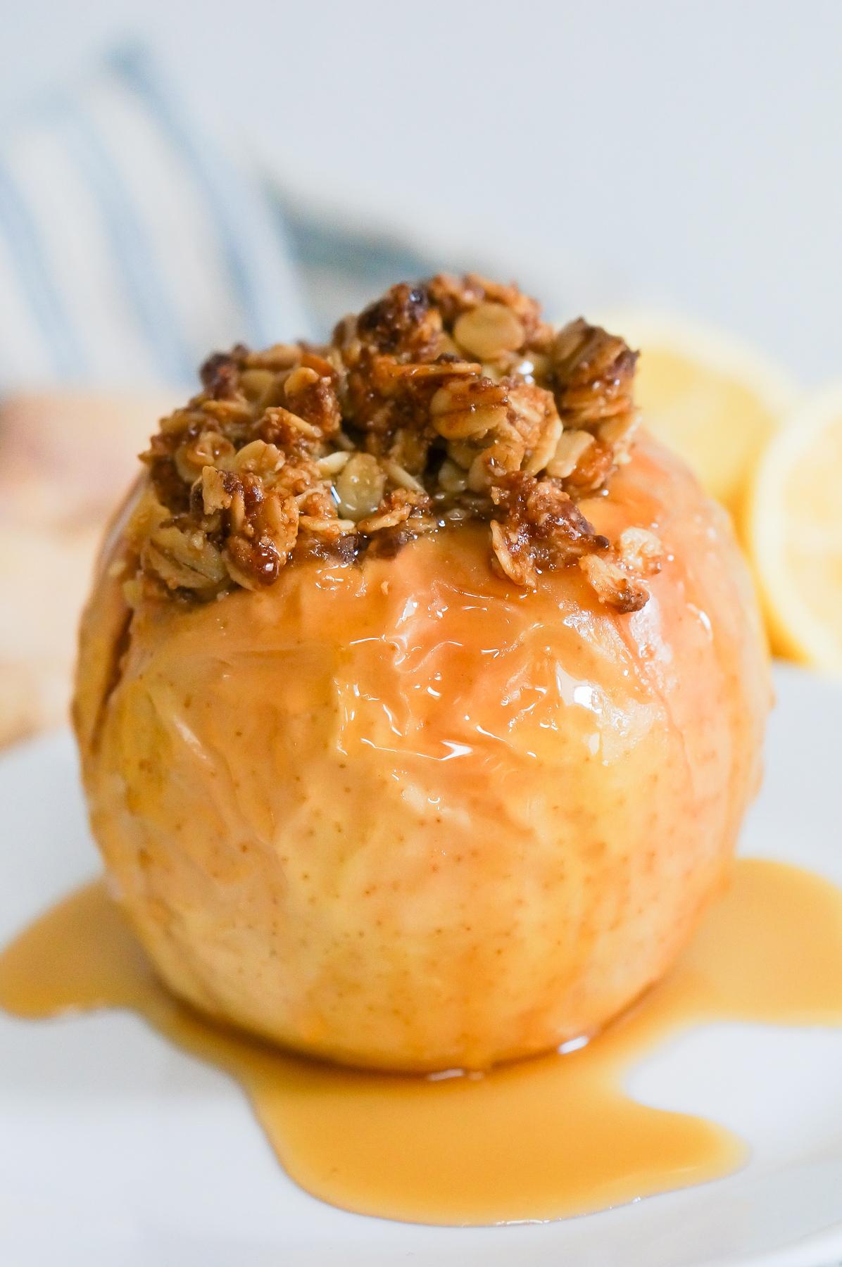 Lemon Ginger Baked Apples-9