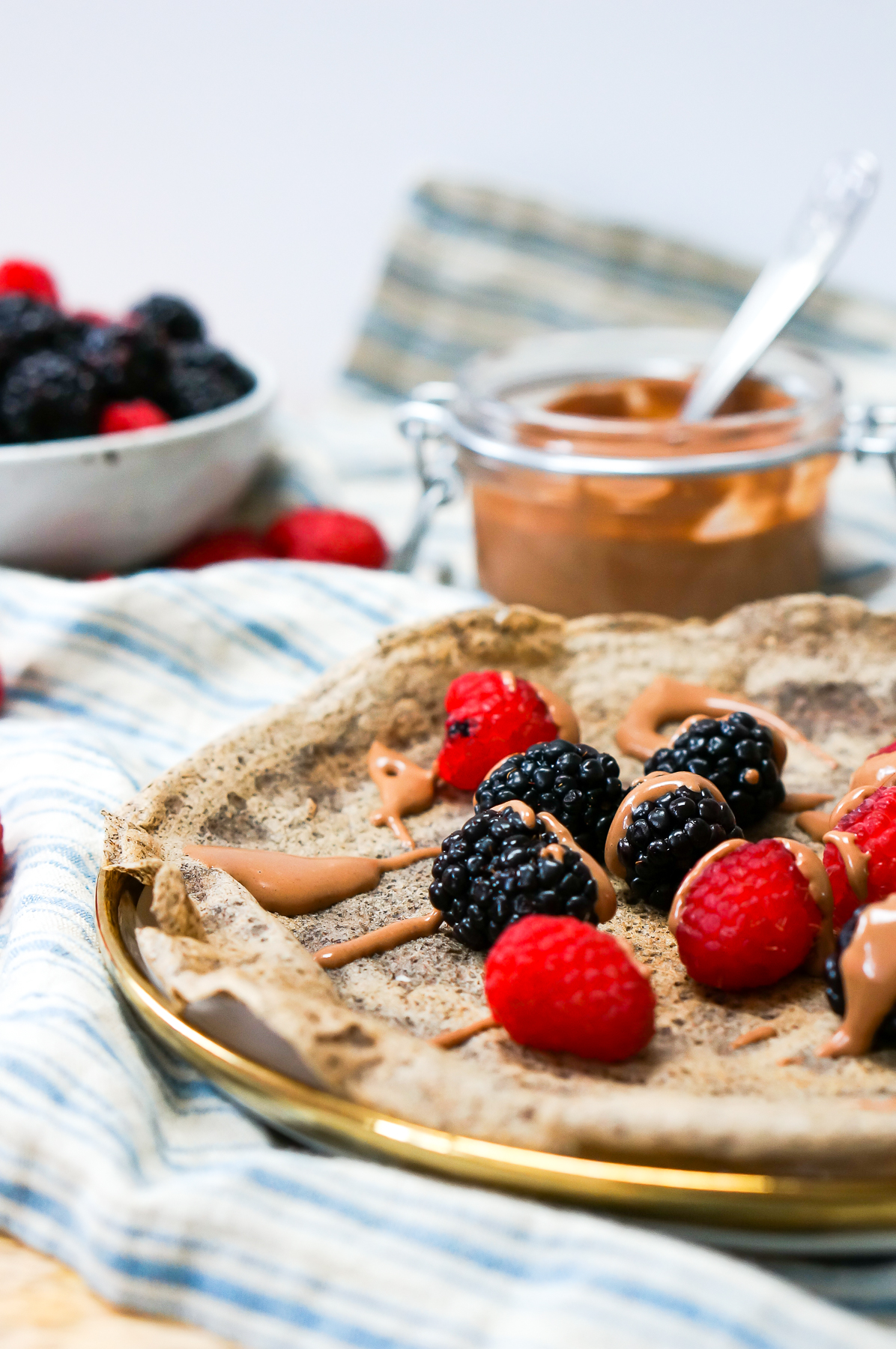 Healthy Buckwheat Crepes (Gluten Free, Dairy Free)