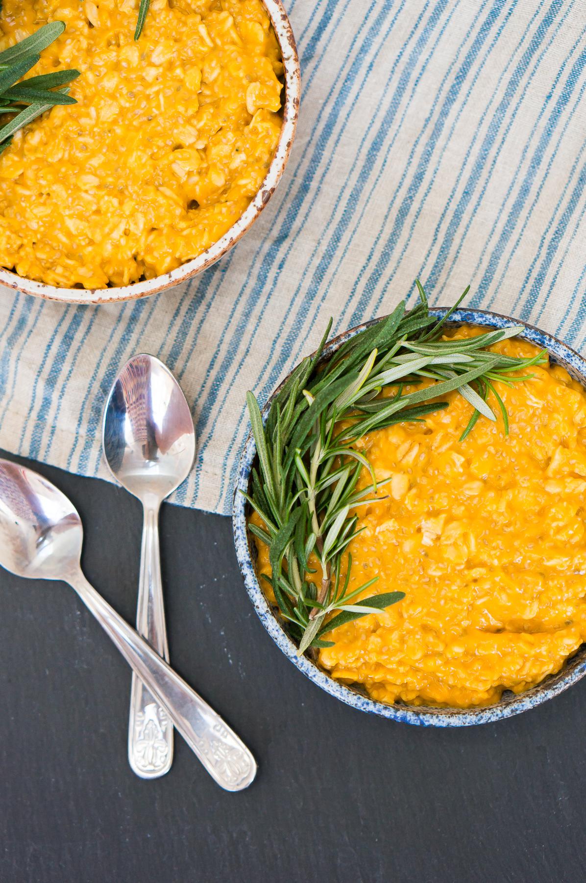Sweet Potato Rosemary Overnight Chia Oatmeal-7