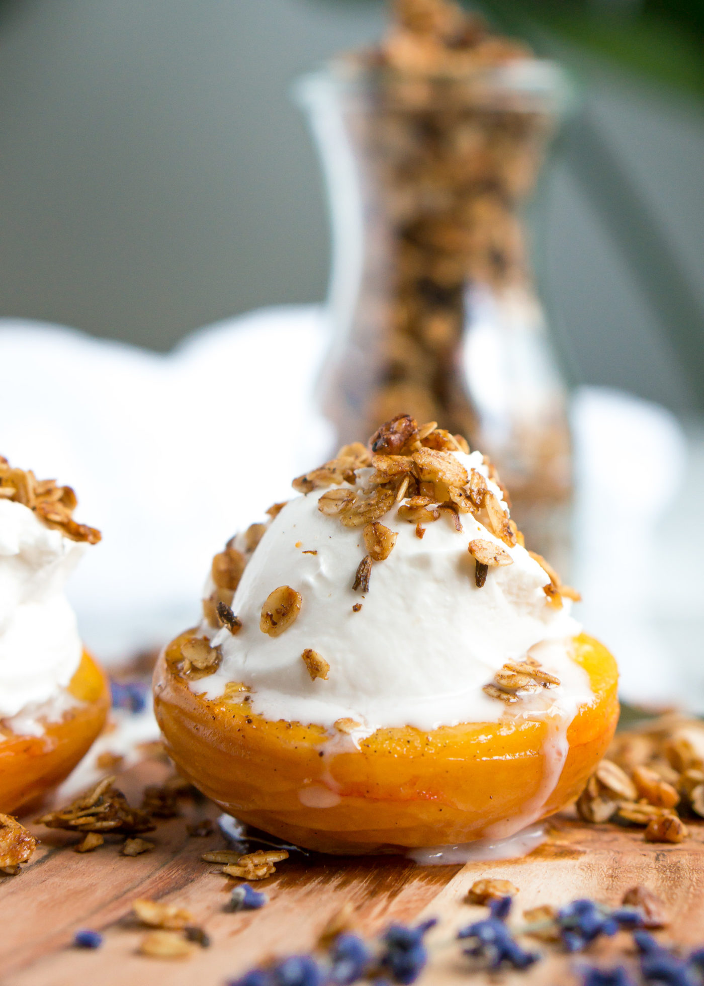healthy-cinnamon-lavender-granola-roasted-peaches-6
