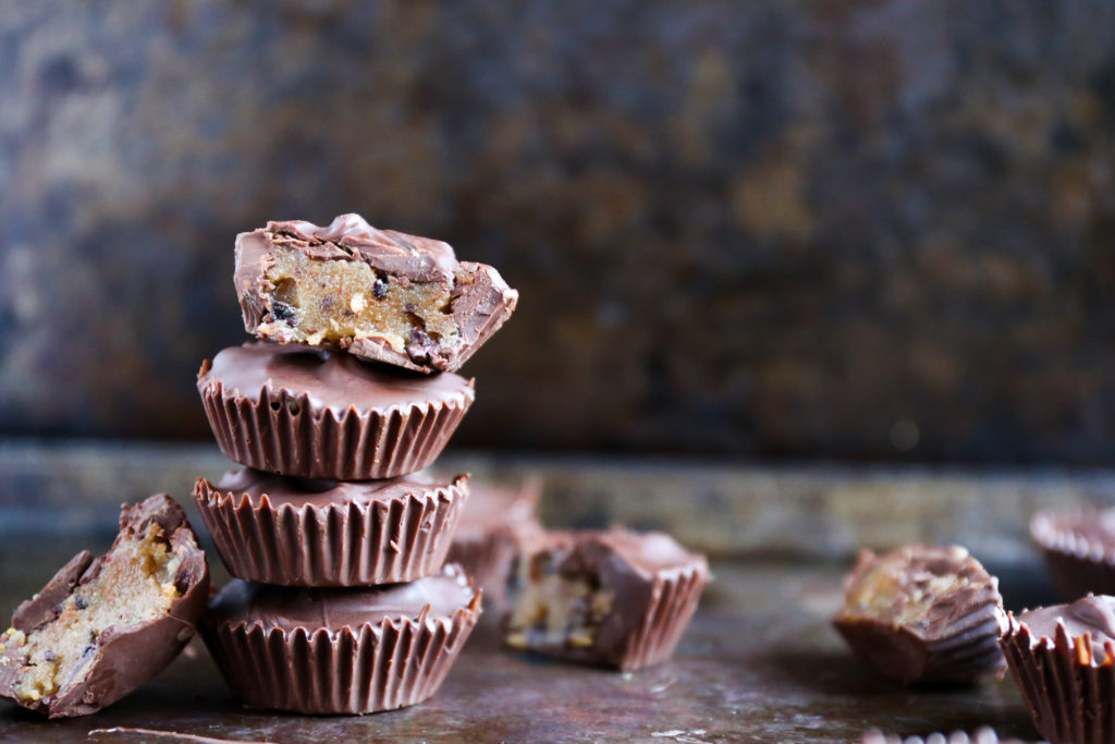 healthy cookie dough cups