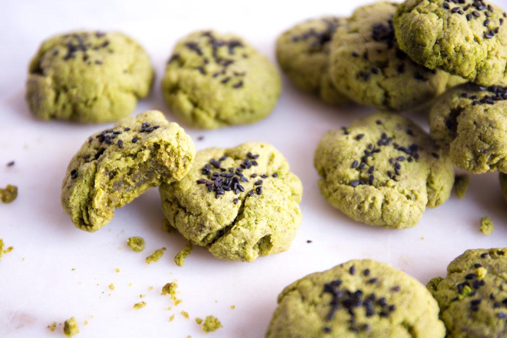 Healthy Matcha Cookies-5