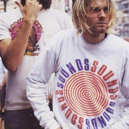 bf kurt cobain sounds t shirt x