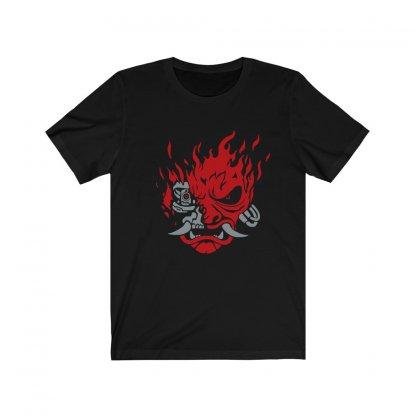 Cyberpunk 2077 Samurai Logo T‑shirt Worn by Keanu Reeves 1