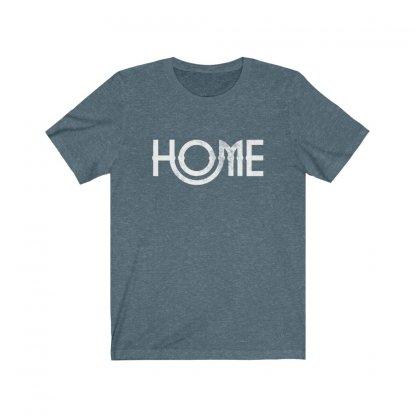 Home Tee Worn by John Lennon ( Blue Gray ) 1