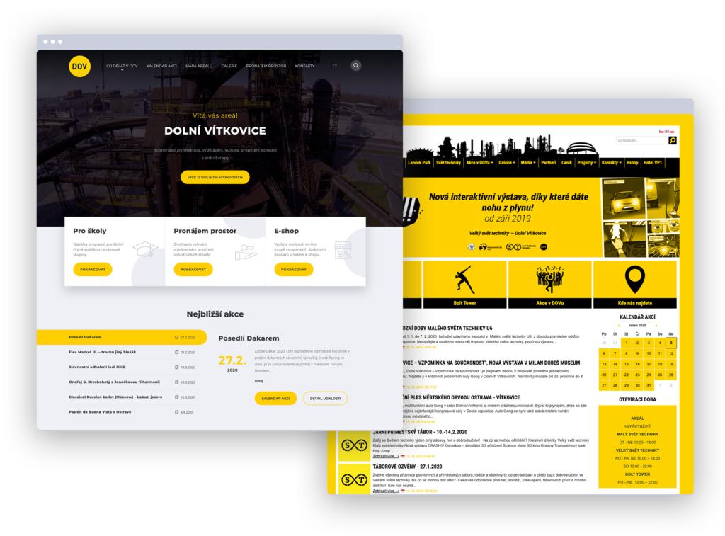New and original website of Dolní Vítkovice