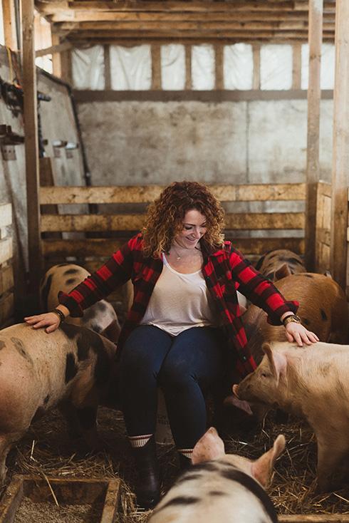 Photo of Angela Caputo, owner of The Breakfast Pig in Sault Ste Marie, Ontario