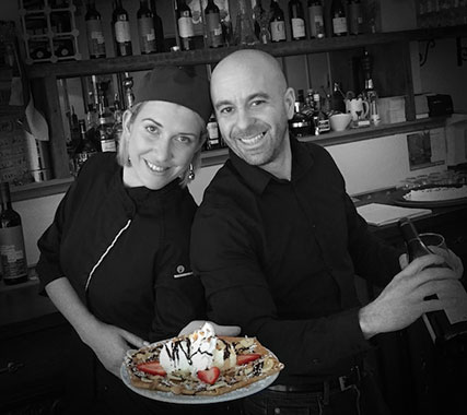 Photo of Mikael and Courtney Colas of La Parisienne Crêperie in Oakville, Ontario.