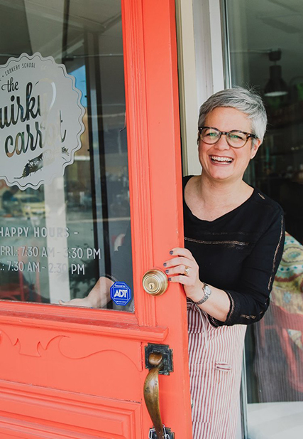 Photo of Julia Graham, owner of the Quirky Carrot in Alexandria, Ontario