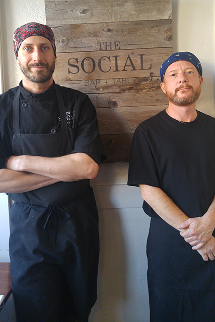 Eric Dreher and Darren McEwan, chefs at The Social Bar and Table in Port Hope, Ontario