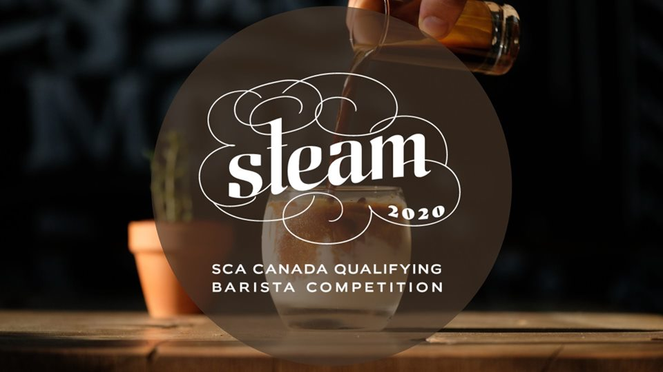 Logo for Steam, 2019 SCA Eastern Canada Barista Qualifying Competition