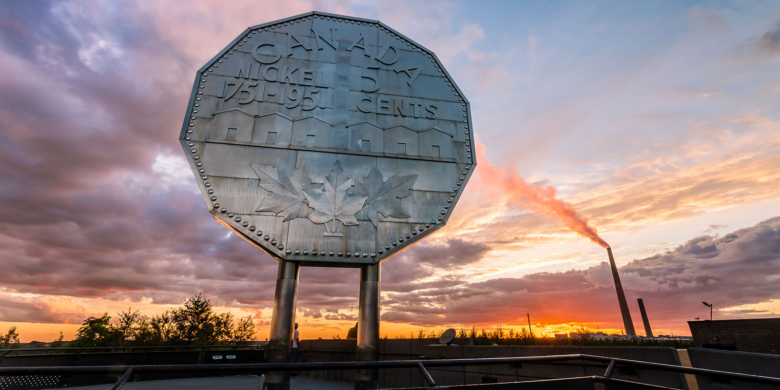 Photo of the Big Nickel landmark in Sudbury, Ontario