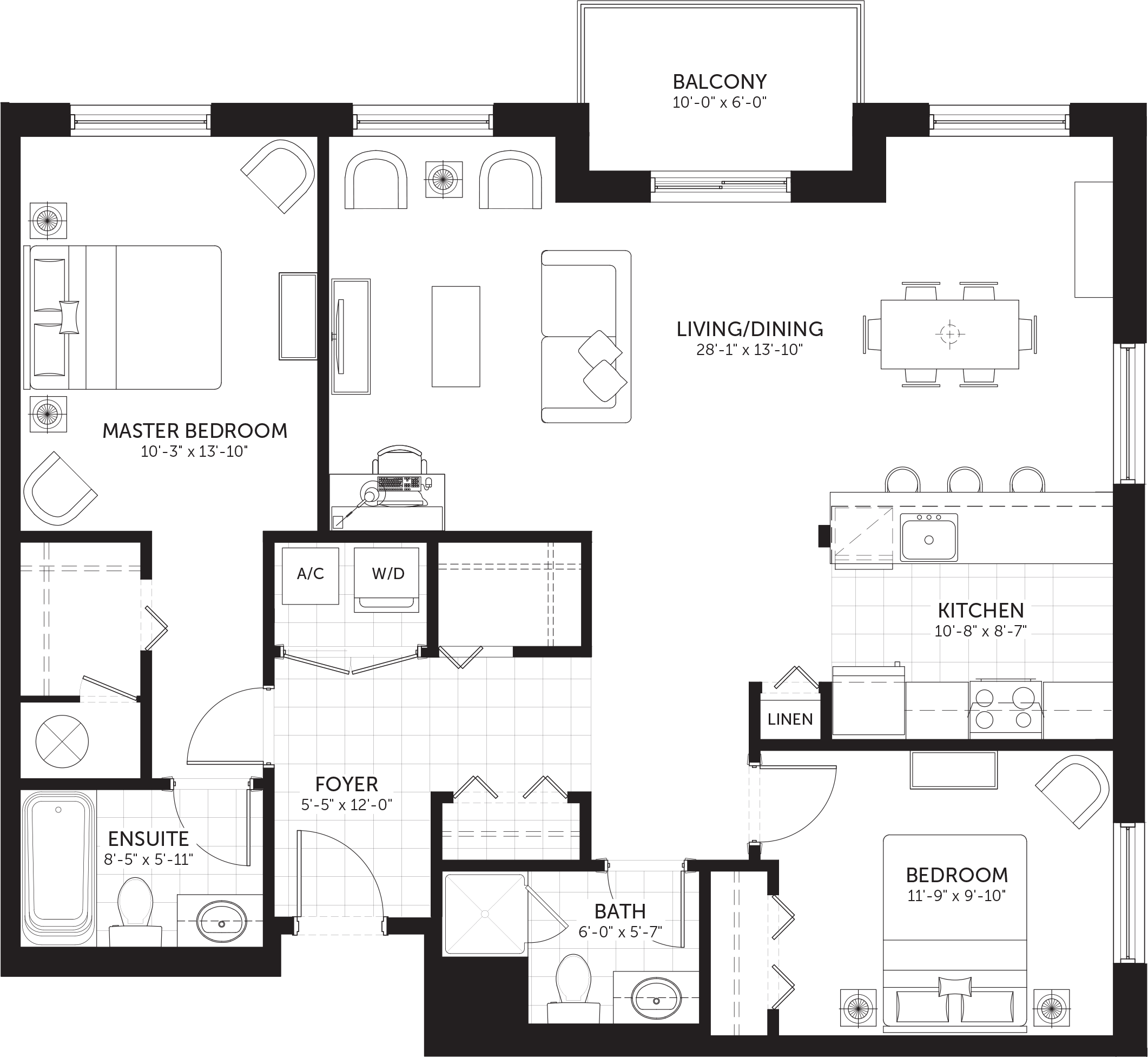 Hunt Club Flats The Strathcona Condo Floor Plans