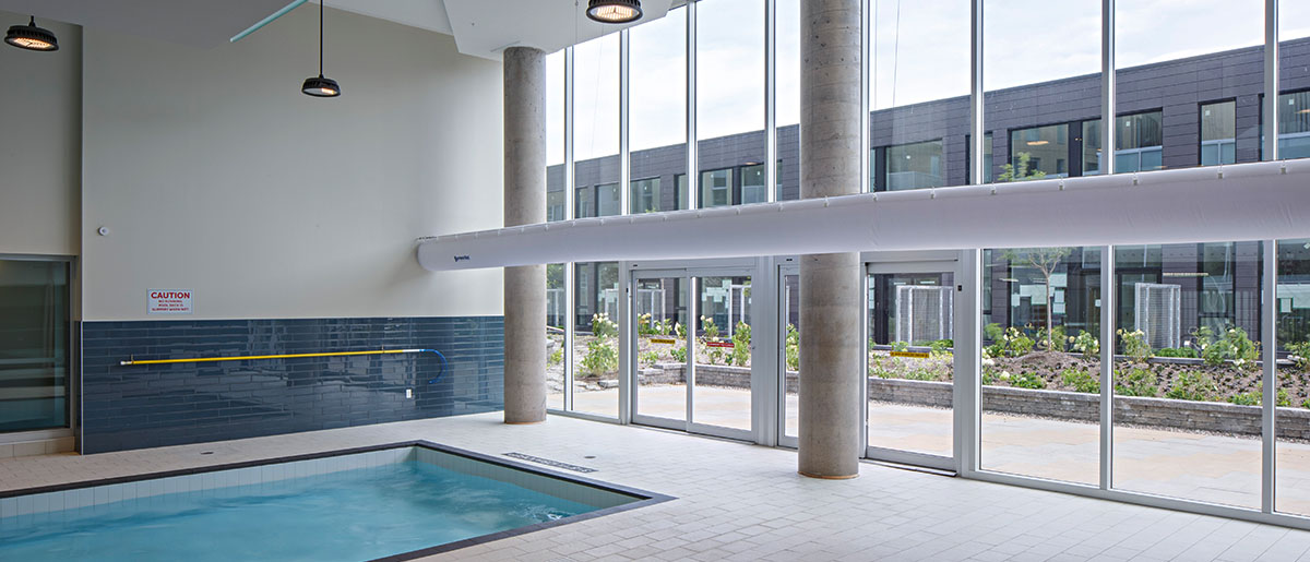 Pool in Tribeca Lofts in Ottawa