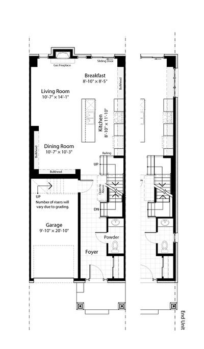 Claridge Homes Charleston Ground Floor Townhomes Floor Plans