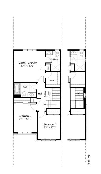 Claridge Homes Charleston Second Floor Townhomes Floor Plans