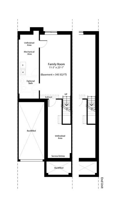 Claridge Homes Charleston Basement Townhomes Floor Plans