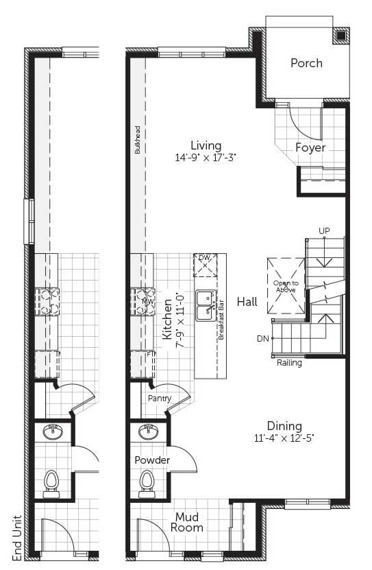 Claridge Homes Fraser Ground Floor Townhomes Floor Plans
